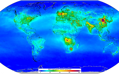 Air quality from space: indicator of human activity.
